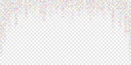 Festive confetti. Celebration stars. Colorful stars small on transparent background. Dazzling festive overlay template. Stunning vector illustration.