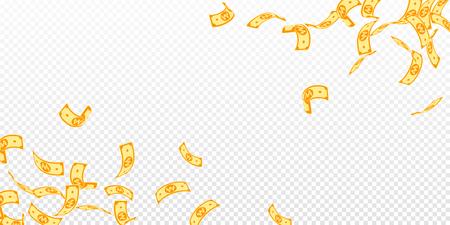 Chute des billets de won coréen. Factures gagnées flottantes sur fond transparent. L'argent de la Corée. Illustration vectorielle délicieuse. Concept incroyable de jackpot, de richesse ou de réussite. Vecteurs