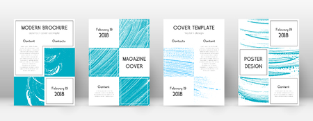 Cover page design template. Business brochure layout. Beautiful trendy abstract cover page. Pink and blue grunge texture background. Trending poster.
