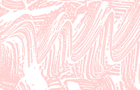 Grunge texture. Distress pink rough trace. Favorable background. Noise dirty grunge texture. Juicy artistic surface. Vector illustration.