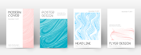 Cover page design template. Minimal brochure layout. Classic trendy abstract cover page. Pink and blue grunge texture background. Adorable poster.