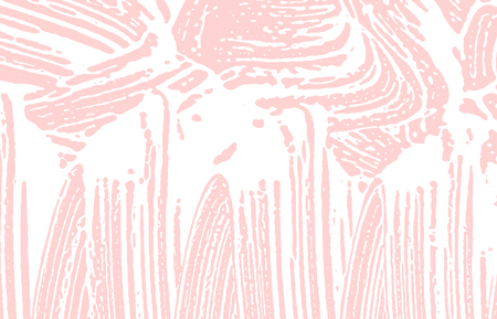 Grunge texture. Distress pink rough trace. Favorable background. Noise dirty grunge texture. Modern artistic surface. Vector illustration.