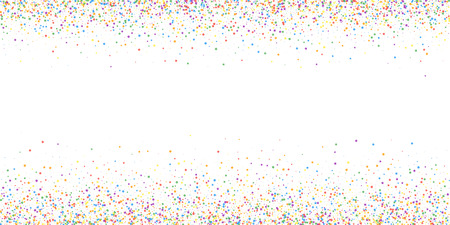 Festive confetti. Celebration stars. Childish bright stars on white background. Cool festive overlay template. Shapely vector illustration. Illusztráció
