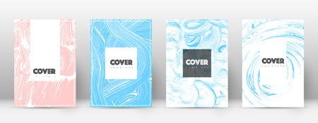 표지 디자인 템플릿입니다. 소식통 브로셔 레이아웃입니다. 화려한 트렌디한 추상 커버 페이지입니다. 핑크와 블루 그런 지 질감 배경입니다. 특이한 포스터.