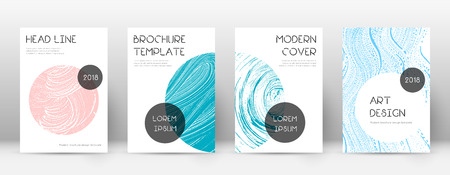 Cover page design template. Trendy brochure layout. Classic trendy abstract cover page. Pink and blue grunge texture background. Splendid poster.