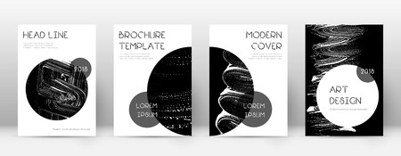 Cover page design template. Trendy brochure layout. Charming trendy abstract cover page. Black grunge texture background. Surprising poster. Illusztráció