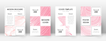 Cover page design template. Business brochure layout. Bewitching trendy abstract cover page. Pink and blue grunge texture background. Fair poster.