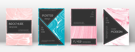 Cover page design template. Black brochure layout. Beauteous trendy abstract cover page. Pink and blue grunge texture background. Surprising poster.