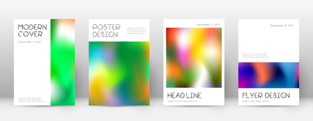 Flyer layout. Minimal fascinating template for Brochure, Annual Report, Magazine, Poster, Corporate Presentation, Portfolio, Flyer. Appealing colorful cover page. Ilustração