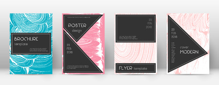 Cover page design template. Black brochure layout. Beautiful trendy abstract cover page. Pink and blue grunge texture background. Curious poster. Foto de archivo - 123174945