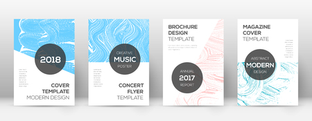 Cover page design template. Modern brochure layout. Cool trendy abstract cover page. Pink and blue grunge texture background. Outstanding poster. Foto de archivo - 123174950