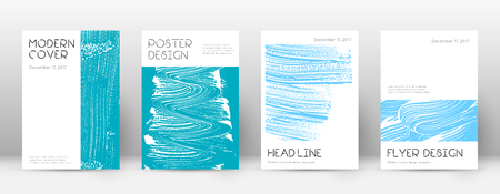 Cover page design template. Minimal brochure layout. Charming trendy abstract cover page. Pink and blue grunge texture background. Curious poster. Foto de archivo - 123067224
