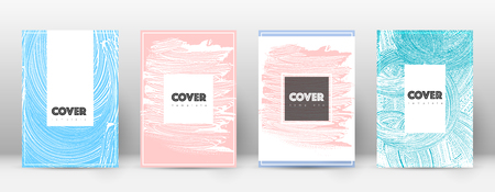 Cover page design template. Hipster brochure layout. Captivating trendy abstract cover page. Pink and blue grunge texture background. Comely poster. Foto de archivo - 123067225