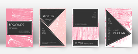 Cover page design template. Black brochure layout. Beauteous trendy abstract cover page. Pink and blue grunge texture background. Sublime poster.