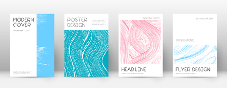 Cover page design template. Minimal brochure layout. Classic trendy abstract cover page. Pink and blue grunge texture background. Brilliant poster. Foto de archivo - 123025676