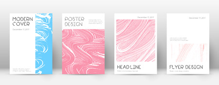 Cover page design template. Minimal brochure layout. Charming trendy abstract cover page. Pink and blue grunge texture background. Extra poster.