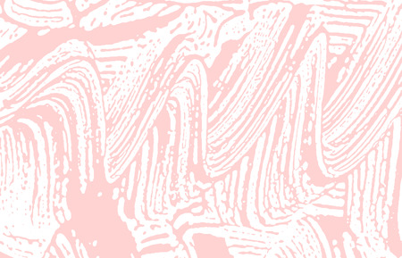 Grunge texture. Distress pink rough trace. Fabulous background. Noise dirty grunge texture. Symmetrical artistic surface. Vector illustration.