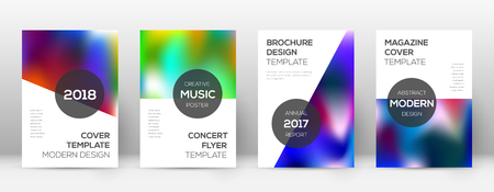 Flyer layout. Modern imaginative template for Brochure, Annual Report, Magazine, Poster, Corporate Presentation, Portfolio, Flyer. Attractive colorful cover page. 向量圖像