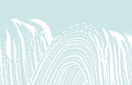 Grunge texture. Distress blue rough trace. Curious background. Noise dirty grunge texture. Impressive artistic surface. Vector illustration. Ilustração