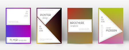Flyer layout. Stylish great template for Brochure, Annual Report, Magazine, Poster, Corporate Presentation, Portfolio, Flyer. Awesome gradient cover page. Vector Illustration