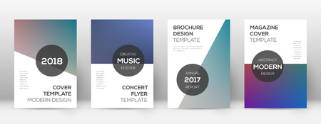 Flyer layout. Modern good-looking template for Brochure, Annual Report, Magazine, Poster, Corporate Presentation, Portfolio, Flyer. Attractive color transition cover page.