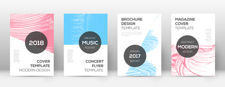 Cover page design template. Modern brochure layout. Creative trendy abstract cover page. Pink and blue grunge texture background. Cool poster.