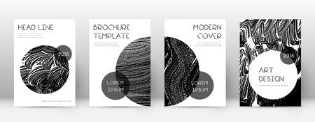 Cover page design template. Trendy brochure layout. Classic trendy abstract cover page. Black grunge texture background. Admirable poster. 向量圖像