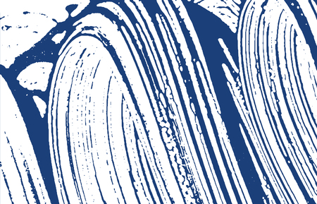 Grunge texture. Distress indigo rough trace. Delightful background. Noise dirty grunge texture. Attractive artistic surface. Vector illustration.