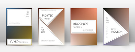 Flyer layout. Stylish valuable template for Brochure, Annual Report, Magazine, Poster, Corporate Presentation, Portfolio, Flyer. Authentic color transition cover page.