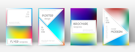 Flyer layout. Stylish graceful template for Brochure, Annual Report, Magazine, Poster, Corporate Presentation, Portfolio, Flyer. Authentic bright cover page. Foto de archivo - 123240265