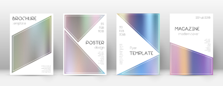 Flyer layout. Triangle artistic template for Brochure, Annual Report, Magazine, Poster, Corporate Presentation, Portfolio, Flyer. Bewitching color gradients cover page. Illustration