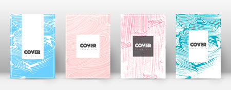 Cover page design template. Hipster brochure layout. Brilliant trendy abstract cover page. Pink and blue grunge texture background. Favorable poster.