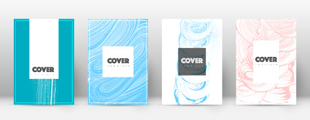 Cover page design template. Hipster brochure layout. Brilliant trendy abstract cover page. Pink and blue grunge texture background. Eminent poster.