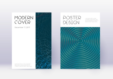 Minimal cover design template set. Red abstract lines on white blue background. Decent cover design. Neat catalog, poster, book template etc.