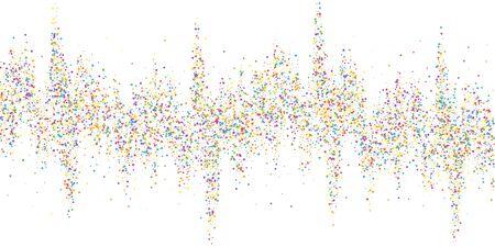 Festive confetti. Celebration stars. Colorful confetti on white background. Dazzling festive overlay template. Favorable vector illustration.