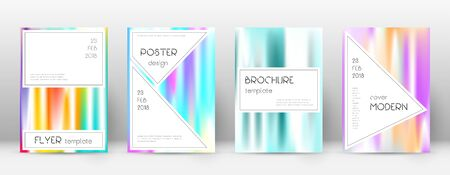 Flyer layout. Stylish magnificent template for Brochure, Annual Report, Magazine, Poster, Corporate Presentation, Portfolio, Flyer. Awesome lines cover page. Stock Illustratie