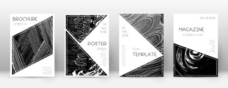 Cover page design template. Triangle brochure layout. Classy trendy abstract cover page. Black grunge texture background. Energetic poster.