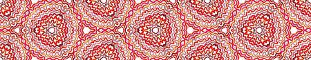Wine red Seamless Border Scroll. Geometric Watercolor Frame. Appealing Seamless Pattern. Medallion Repeated Tile. Juicy Chevron Ribbon Ornament. 免版税图像