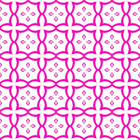 Pink bright circles seamless pattern. Hand drawn watercolor ornament. Admirable repeating design. Extraordinary fabric cloth, swimwear design, wallpaper wrapping.