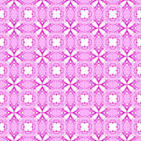 Pink geometric seamless pattern. Hand drawn watercolor ornament. Attractive repeating design. Nice fabric cloth, swimwear design, wallpaper wrapping.