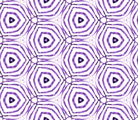 Purple handdrawn seamless pattern. Hand drawn watercolor ornament. Original repeating tile. Brilliant fabric cloth, swimwear design, wallpaper, wrapping.