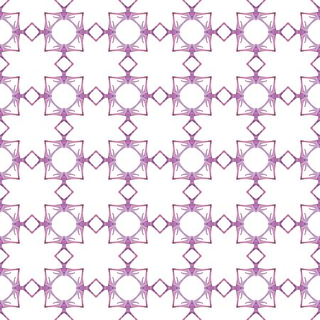 Red blue geometric seamless pattern. Hand drawn watercolor ornament. Bizarre repeating design. Rare fabric cloth, swimwear design, wallpaper wrapping.