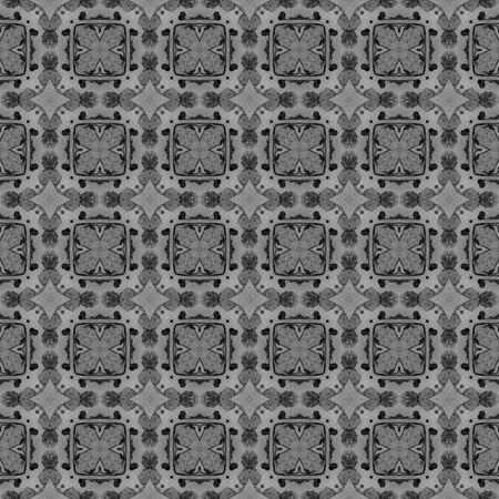 Schwarz-weiß kariertes allover nahtloses Muster. Handgezeichnete Aquarellverzierung. Lebendiges, sich wiederholendes Design. Erhabenes Stofftuch, Bademoden-Design, Tapetenverpackung.