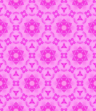 Pink medallion allover seamless pattern. Hand drawn watercolor ornament. Breathtaking repeating design. Enchanting fabric cloth, swimwear design, wallpaper wrapping.