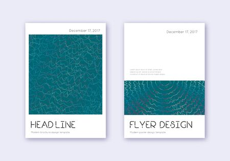 Minimal cover design template set. Red white blue abstract lines on dark background. Dramatic cover design. Bold catalog, poster, book template etc. Ilustração