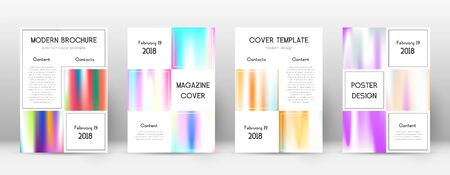 Flyer layout. Business wondrous template for Brochure, Annual Report, Magazine, Poster, Corporate Presentation, Portfolio, Flyer. Adorable lines cover page.  イラスト・ベクター素材