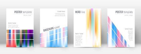 Flyer layout. Geometric magnetic template for Brochure, Annual Report, Magazine, Poster, Corporate Presentation, Portfolio, Flyer. Alluring lines cover page.