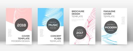 Cover page design template. Modern brochure layout. Comely trendy abstract cover page. Pink and blue grunge texture background. Wonderful poster.
