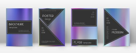 Flyer layout. Black indelible template for Brochure, Annual Report, Magazine, Poster, Corporate Presentation, Portfolio, Flyer. Actual color gradients cover page.