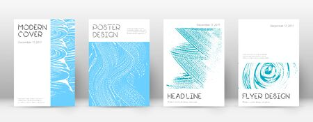Cover page design template. Minimal brochure layout. Charming trendy abstract cover page. Pink and blue grunge texture background. Bold poster. 向量圖像